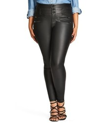 Plus size sexy pins coated skinny jeans medium 3639185