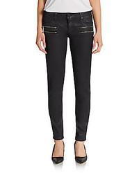 Vigoss zip pocket coated skinny jeans medium 255233