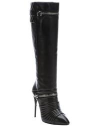 Giuseppe Zanotti Black Diamond Quilted Leather Olinda Knee High Boots