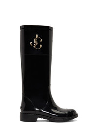 Jimmy Choo Black Edith Tall Boots