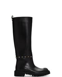 Valentino Black Garavani Tall Boots