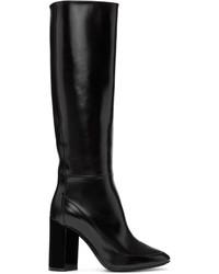 Black illusion knee high boots medium 952512