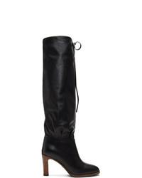 Gucci Black Mid Heel Boots