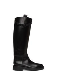 Ann Demeulemeester Black Riding Boots