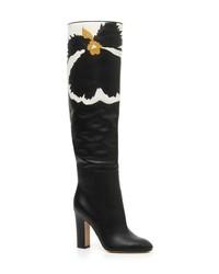 Valentino Garavani Bloom Block Heel Boot