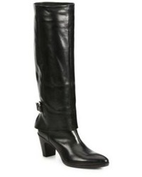 CNC Costume National Costume National Leather Knee High Fold Over Buckle Boots