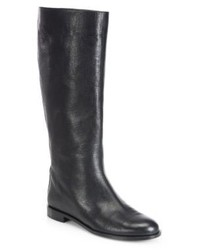 Alexander McQueen Counter Spike Leather Knee High Boots