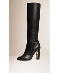 Burberry Knee High Leather Boots