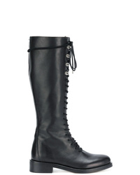 Diesel Lace Up Knee Length Boots