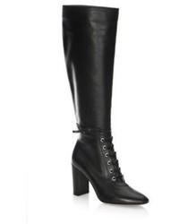 Gianvito Rossi Lace Up Leather Knee High Boots