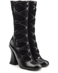 Marc Jacobs Leather And Suede Knee Boots