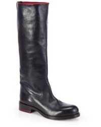 Jil Sander Leather Knee High Boots