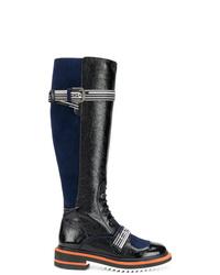Lanvin Logo Lace Up Boots