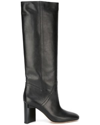 Maison Margiela Brushed Effect Knee High Boots
