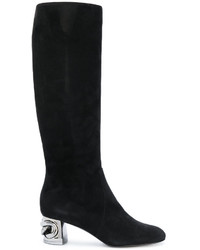 Metallic heel under the knee boots medium 4915133