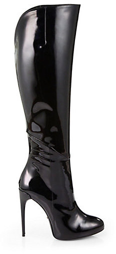 04b049bf838 Gucci Patent Leather Knee High Boots, $1,890 | Saks Fifth Avenue ...