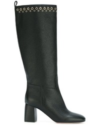 RED Valentino Eyelet Detail Knee Boots