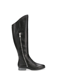 DKNY Striped Heel Knee Boots