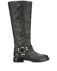 Diesel Textured Knee High Boots