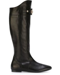 Versace Medusa Knee High Boots