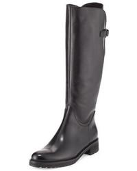 Wildee adjustable leather knee boot black medium 949770