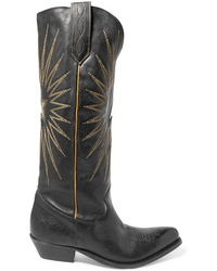 Golden Goose Deluxe Brand Wish Star Embroidered Leather Knee Boots