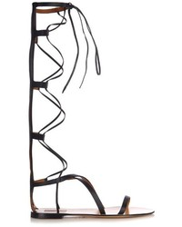 Valentino Aphrodite Gladiator Lace Up Leather Sandals