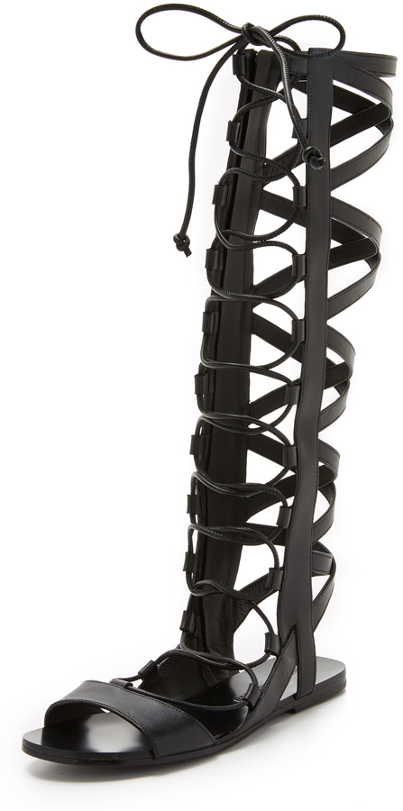 5a538fea3a1 ... Sigerson Morrison Bright Tall Gladiator Sandals ...