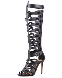 Schutz Eirini Knee High Gladiator Sandal Black