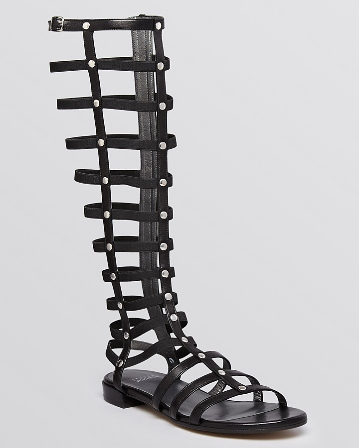 53dca534c1ba1 ... Stuart Weitzman Gladiator Knee High Sandals ...