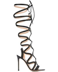 Gianvito Rossi Lace Up Gladiator Sandals