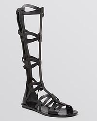 Via Spiga Flat Gladiator Sandals Destin Knee High