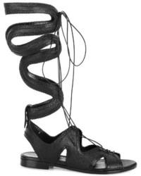 Nicholas Kirkwood X Erdem Lace Up Leather Sandals