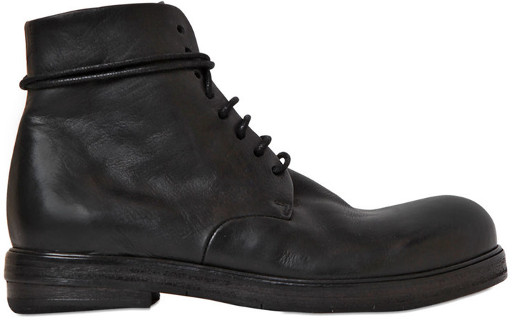 Marsèll 20mm Lace Up Leather Ankle Boots