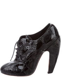 Alaia Alaa Patent Leather Ankle Boots