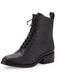3.1 Phillip Lim Alexa Pebbled Leather Lace Up Ankle Boot