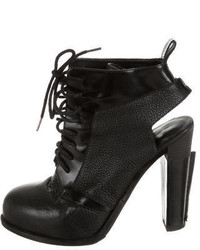 Alexander Wang Leather Lace Up Ankle Boots