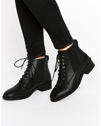 Asos Alis Leather Lace Up Ankle Boots