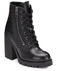 Ash Poker Leather Plartform Ankle Boots