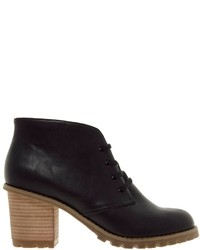 Asos Aspect Lace Up Ankle Boots Black