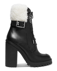 Givenchy Aviator Med Leather Ankle Boots