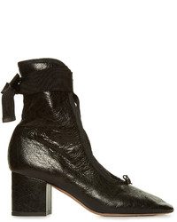 Valentino Ballerina Lace Up Ankle Boots