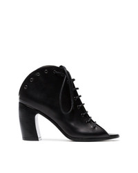 Ann Demeulemeester Black Lace Up Leather Boots
