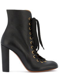 Chloé Black Miles Lace Up Ankle Boots