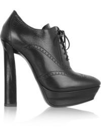 Bottega Veneta Brogue Style Leather Ankle Boots