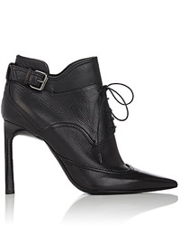 Lanvin Buckled Strap Leather Ankle Boots