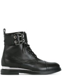 Casadei Lace Up Buckled Ankle Boots