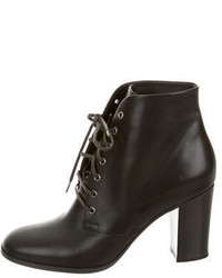 Chanel Lace Up Ankle Boots
