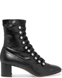 Chelsea Paris Malika Studded Lace Up Leather Ankle Boots