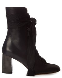 Chloé Chlo Harper Lace Up Leather Ankle Boots